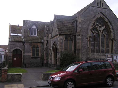 8/3 The east side of the Church prior to building work commencing.